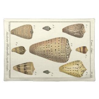 Vintage Cone Shells Placemat
