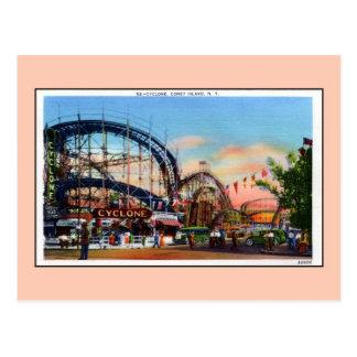 Vintage Coney Island cyclone Postcard