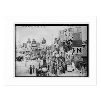 Vintage Coney Island, Luna Park Tarjeta Postal
