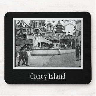 Vintage Coney Island Photograph Mouse Pad