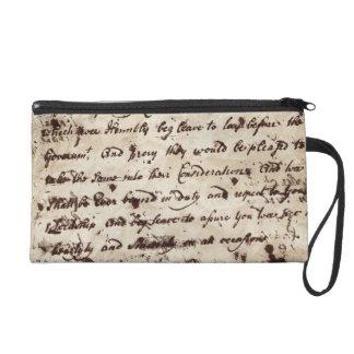 Vintage Confederate Letter Bagettes Bag Wristlet Clutch