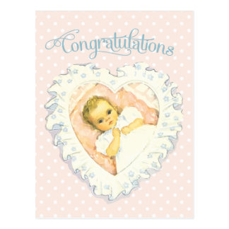 Vintage Congratulations for New Baby Post Cards