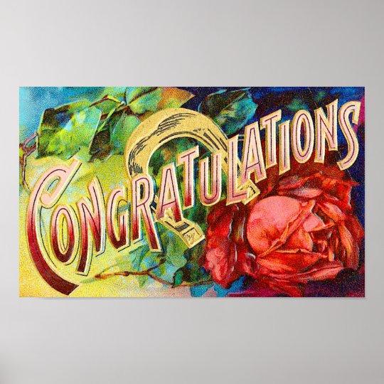 Vintage Congratulations Poster
