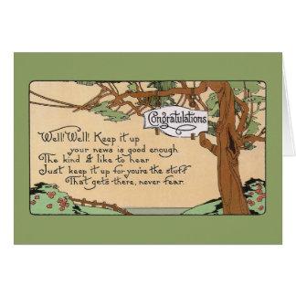 Vintage Congratulatory Verse and Tree Card