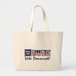 Vintage Connecticut de Demócrata del voto en 2012  Bolsa De Mano