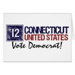 Vintage Connecticut de Demócrata del voto en 2012  Tarjeton