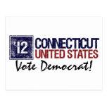 Vintage Connecticut de Demócrata del voto en 2012  Tarjetas Postales