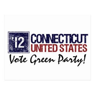 Vintage Connecticut del Partido Verde del voto en Tarjeta Postal