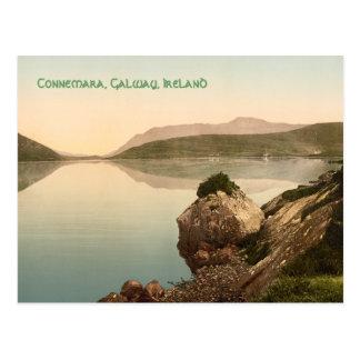 Vintage Connemara, tarjeta de Galway, Irlanda con Tarjetas Postales