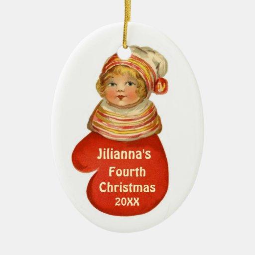 Vintage conocido de encargo X103 del cuarto navida Ornamento Para Reyes Magos