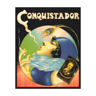 Vintage Conquistador Cigarettes Tobacco 1930s Canvas Print