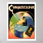 Vintage Conquistador Cigarettes Tobacco 1930s Posters