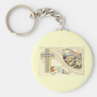 Vintage Consider The lillies Easter Greeting Keychain