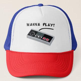 Vintage console trucker hat