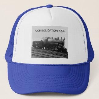 Vintage Consolidation 2-8-0 Steam Engine Train Trucker Hat