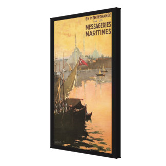 Vintage Constantinople Travel Advertisement Canvas Print
