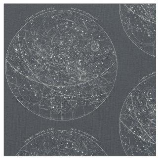 Vintage Constellation Map Fabric