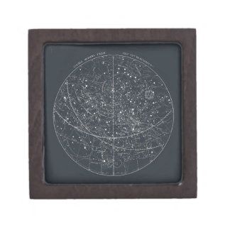Vintage Constellation Map Keepsake Box
