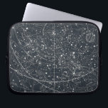 "Vintage Constellation Map Laptop Sleeve<br><div class=""desc"">A modified celestial Illustration from Asa Smith's Illustrated Astronomy,  1851.</div>"