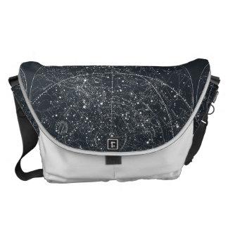Vintage Constellation Map Messenger Bag