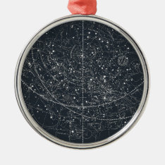 Vintage Constellation Map Metal Ornament at Zazzle