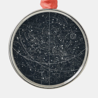Vintage Constellation Map Metal Ornament