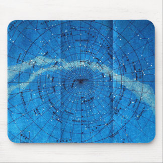 Vintage Constellation Map Mouse Pads