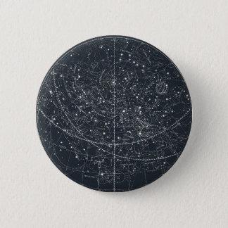 Vintage Constellation Map Pinback Button