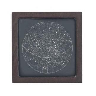 Vintage Constellation Map Premium Trinket Box