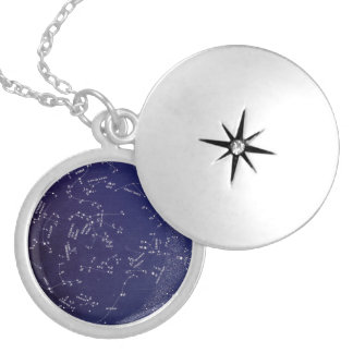 Vintage Constellation Map Silver Plated Necklace