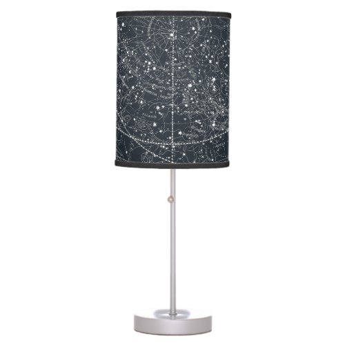 Vintage Constellation Map Table Lamp