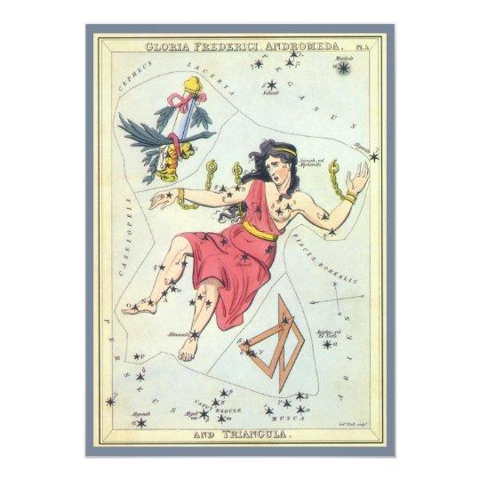 Vintage Constellations Stars Andromeda Invitation