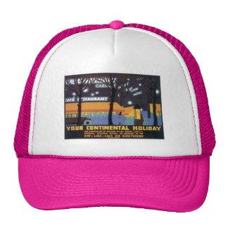 Vintage Continental Holiday Railways Hat