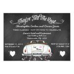 Vintage Convertible Chalkboard Post Wedding Invite