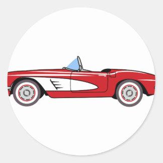 Vintage Convertible Classic Round Sticker