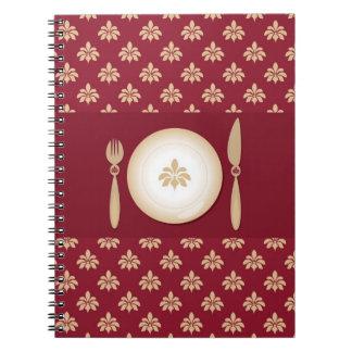 vintage cook book spiral notebooks