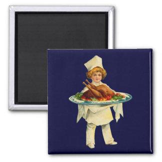 Vintage Cook Square Magnet