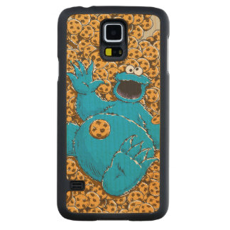 Vintage Cookie Monster and Cookies Carved® Maple Galaxy S5 Case