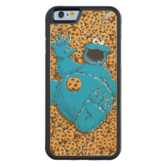 Vintage Cookie Monster And Cookies Carved® Maple Iphone 6 Bumper at Zazzle