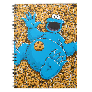 Vintage Cookie Monster and Cookies Notebook