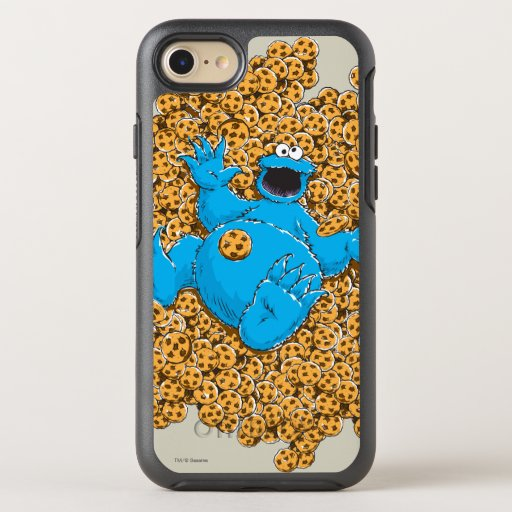 Vintage Cookie Monster and Cookies OtterBox Symmetry iPhone SE/8/7 Case