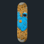 """Vintage Cookie Monster and Cookies Skateboard<br><div class=""""desc"""">This super cute design features Big Bird,  Count von Count and Bert and Ernie in a fun color block design.   © 2021 Sesame Workshop. www.sesamestreet.org</div>"""