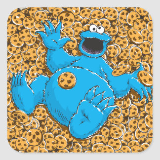 Vintage Cookie Monster and Cookies Square Sticker