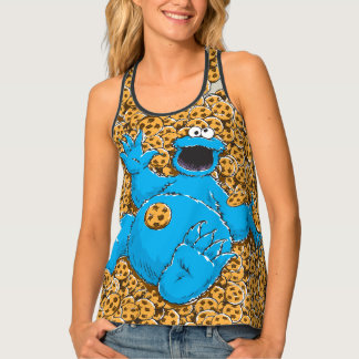 Vintage Cookie Monster and Cookies Tank Top