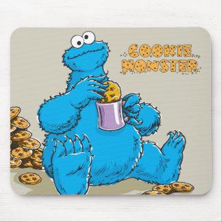 Vintage Cookie Monster Eating Cookies Mouse Pad