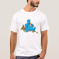 Vintage Cookie Monster Eating Cookies T-Shirt