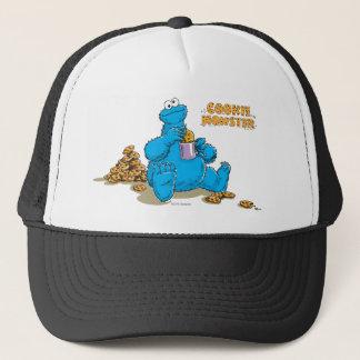Vintage Cookie Monster Eating Cookies Trucker Hat