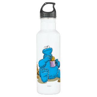 Vintage Cookie Monster Eating Cookies Water Bottle