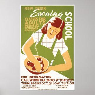 Vintage Cooking School WPA Poster