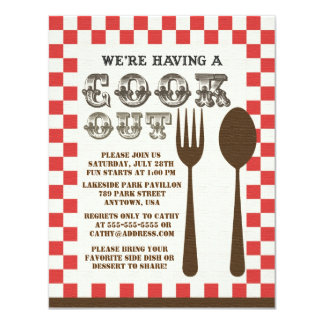 Vintage Cookout Style Invitation